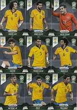 Panini Prizm FIFA World Cup WM 2014 base cards equipo Brazil to choose escoger