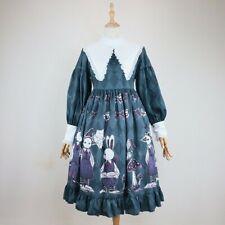 Lady Dress Long Sleeve Lolita Japanese Dresses Cute Gothic Girls Cosplay Fashion