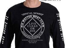 Narcotics Anonymous -  No Matter What Club - Long Sleeve T-shirt - Black - S-3X