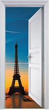 Sticker porte trompe l'oeil Tour Eiffel 90x200 cm réf 324