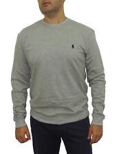 NWT Polo Ralph Lauren Men's Cotton Round Neck Fleece Sweatshirt Gray