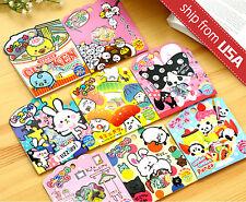 Lot 71 Japan Musha Panda Cat Food Dessert funny sticker flakes Seal Cute Kawaii