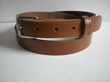 Cinturones De Cuero Tostado adecuado para hombres y mujeres de tamaños pequeños a XX Grande