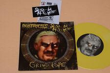 """AGATHOCLES 7"""" 45 DARK METAL LIMITED VINILE GIALLO NUMERAT EDITION 666 COPIES  NM"""