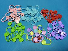 10 Plastic Locking Safety Pin Stitch Markers Holders Knitting Crochet Craft