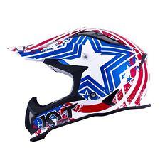 Casco Helm Casque Helmet KYT STRIKE EAGLE Patriot Blue Red 2018 YSEA0010