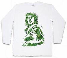 GANJA BOB I LONG SLEEVE T-SHIRT Jamaica Marley Cannabis Gras Hemp Reggae