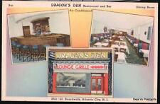 ATLANTIC CITY NJ Dragon's Den Chinese Restaurant Vtg PC