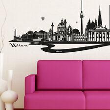 Skyline Wien als Wandtattoo Wandaufkleber Wanddeko Aufkleber von Wandkings