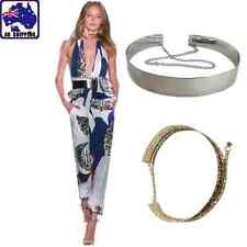 Women Waist Belt Metal Mirror Surface Fashion Hollow Chains Wide Plate CBEL414