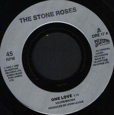"""STONE ROSES one love 7"""" WS EX/- silvertone ORE 17 silver label noc"""