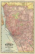 Old City Map - Buffalo New York - Rand McNally 1892 - 35.63 x 23