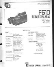 Fuji Original Service Manual für Video 8  Camcorder Fujix F 610
