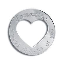 Jewelco London Señoras Oro Blanco 9k Placa de nombre collar