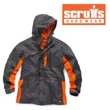 SCRUFFS WORKER Jacket Waterproof Work Coat Grey Raincoat