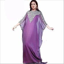 EXCLUSIVE ELEGANT DUBAI WOMEN FARASHA MAXI GEORGETTE WEDDING GOWN DRESS 1218