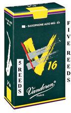 5 Vandoren V16 Alto Saxophone Reeds Available Strengths 1.5 2 2.5 3 3.5 Free Del
