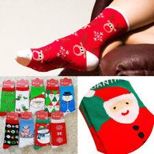 HOT Men & Women Christmas Cotton Socks Snowman Santa Snowflake Socks Gifts TR