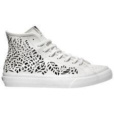 VANS Sk8 Hi Decon (Cutout) Leaves White Leather Women's Skate Shoes