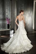 Wedding Dress Cosmobella design #7535, AJUSTABLE to Size 8 to 12 ( M- L)