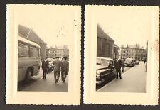 DIJON 21: AUTOMOBILES & AUTOBUS lot de 2 photos en 1954