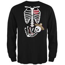 Cinco de Mayo Baby Skeleton Black Adult Long Sleeve T-Shirt