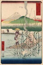 JP06 VINTAGE 1858 giapponese BELLE ARTI sagamigawa FUJI POSTER re-print A1 / A2 / A3 / A4