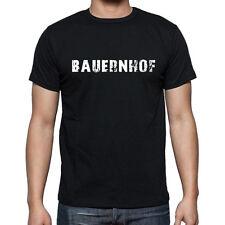 bauernhof, Herren Tshirt Schwarz, Hommes Tshirt Noir, Geschenk, Cadeau