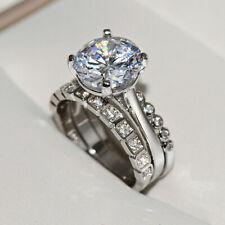 3pcs/set women's topaz zircon ring wedding temperament charm Jewelry size 6-10