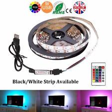 3M 5V LED Strip Light SMD5050 RGB Waterproof IR Remote Controller TV PC Back Mod