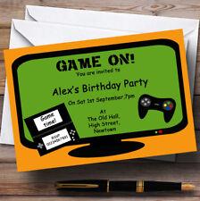 Computer Video Giochi per console tema Personalizzati Festa di Compleanno Inviti