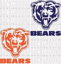 """2 Chicago Bears Cornhole Decals LARGE 11x13"""" Bean Bag Toss Sticker Baggo"""