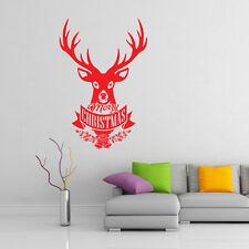 Natale cervo adesivi da parete barbiere finestra natale insegna arte xm5