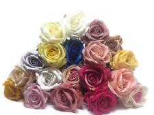 Long Single Stem Velvet Touch Artificial Rose - Wedding Bouquet Vase Flowers