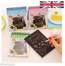 Rainbow Scratch Pad Kawaii Children's Craft Scratch-book Fun DIY Sketchbook