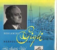 BENIAMINO GIGLI disco 25 CM 33 giri NEAPOLITAN SONGS stampa INGLESE