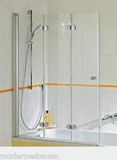 Breuer ELANA KOMFORT Badewannenaufsatz, 3-teilig, Badewannenduschwand, ESG 6 mm