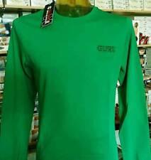 T-shirt uomo Guru manica lunga girocollo con logo ricamato e polsini art G991066