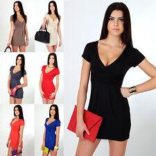 Classic & Elegant Women's Dress V-Neck Cocktail Tunic Holiday Size 8-18 130