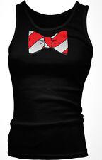Fake Bow Tie Stripes Red White Necktie Costume Business Attire Be Girls Tank Top