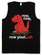 Row Row Oh Herren Tank Top Tyrannosaurus T-Rex Dino Dinosaur T Rex Fun Boat Arms