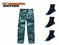 Dickies Reaper Pantaloni, Lavoro Fattoria Pantaloni Verde Calzini Gratis
