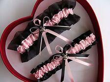 NEW Sexy Bridal Wedding Garter Baby Pink Black Prom GetTheGoodStuff Skull Gothic