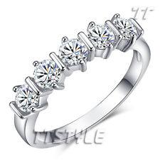 TT White Gold Plated Engagement Wedding Band Ring (RF70)