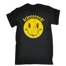 Acieeeed T-Shirt DJ PARTY ACIDO Old Skool Club Rave Hardcore CASA NATALE