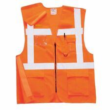 Portwest-Hi-Vis Ejecutivo Chaleco de carril carril Seguridad Workwear pista lateral Ris