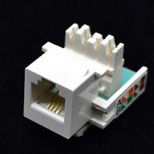 lot of RJ11 4P4C Telephone RJ11 Outlet Modular Socket Jack Module 112233