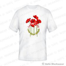 Remembrance Day Poppy Appeal [D1] Love UK T Shirt - for Men Women Kids Unisex