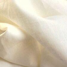 Off White 100% Linen Woven Fabric Light Weight, Medium Weight, Heavy Weight.