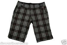 Ezekiel Delaney Bermuda Black Red Grey Green White Plaid Pockets Junior's Shorts